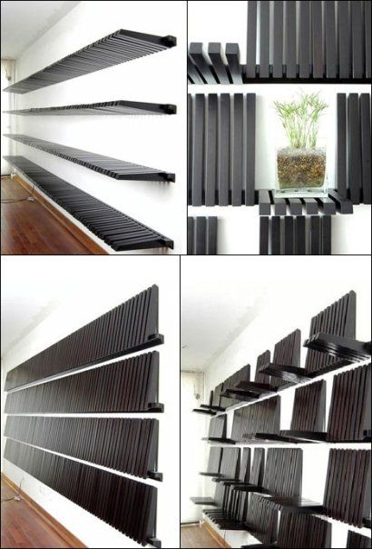 estantes: Bookshelves, Estant Difer, Books Shelves, Boas Idéia, Ems Estantes, Shelf Design, Apartment, Products Design, Decorador México