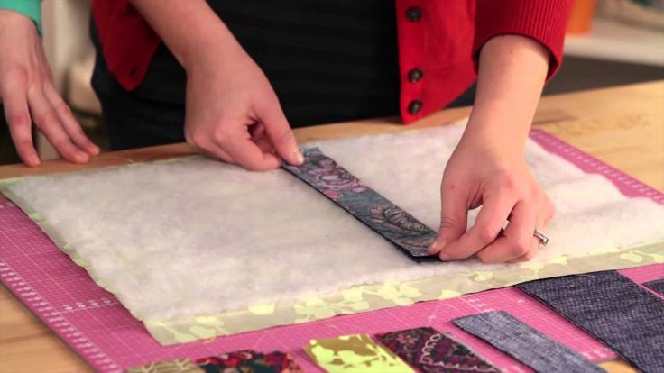 How to Quilt-As-You-Go with Heather Kinion. Very informative. I didn't know this #quilting method was so old!