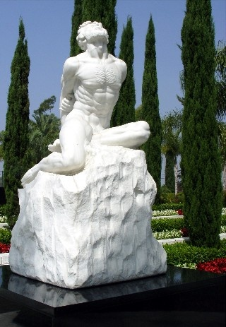 Statue of Job at Crystal Cathedral, Garden Grove, CA. I first saw it in 1990.