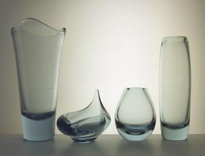 Detailed image of Set of four ice-blue Per Lutken Holmegaard art glass
