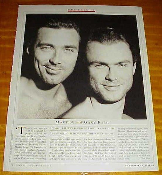 MARTIN & GARY KEMP 1990 clipping - The Krays stars! shirtless hunks! #101113 in Entertainment Memorabilia   eBay