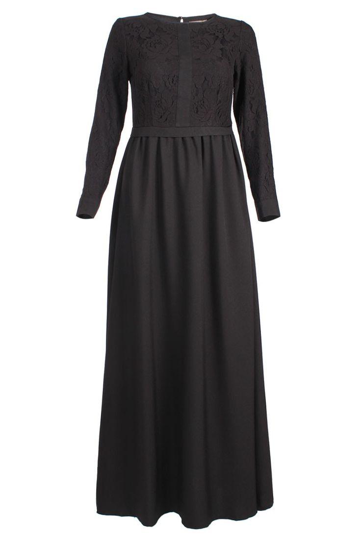 Jezel Lace Maxi Dress - Black. www.poplook.com