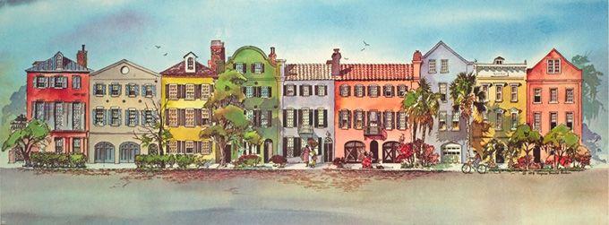 fe8d43f2d5f Rainbow Row - Charleston