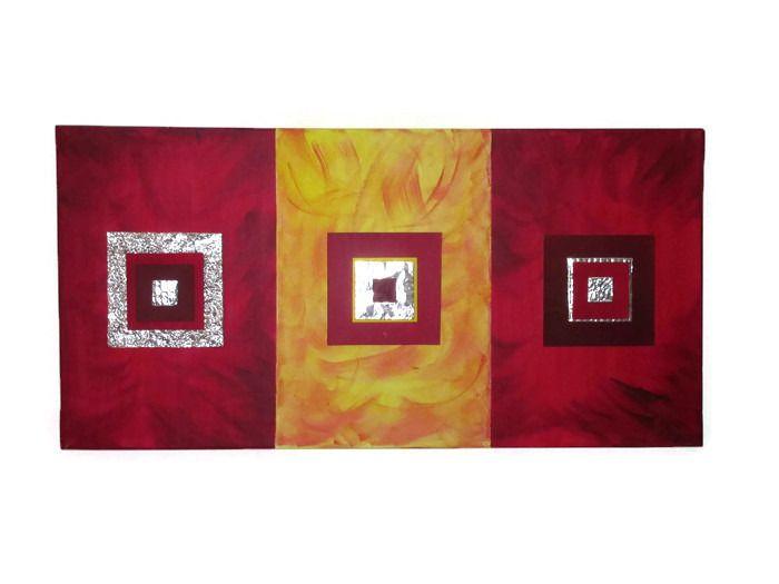 tableau abstrait gomtrique peintures par kikry art - Tableau Abstrait Color