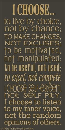 I'd love to stencil this on my bedroom or bathroom wall. Such a great saying!