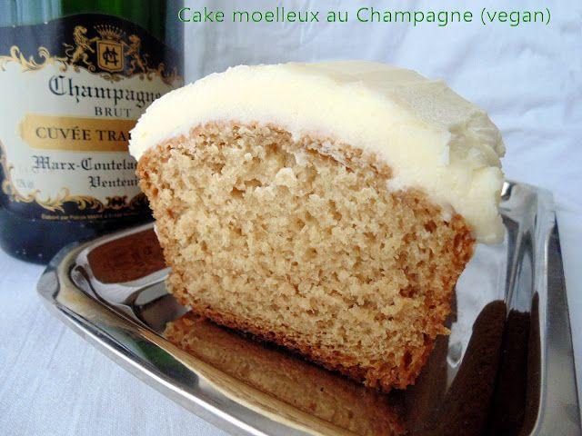 Cake moelleux au Champagne (vegan)