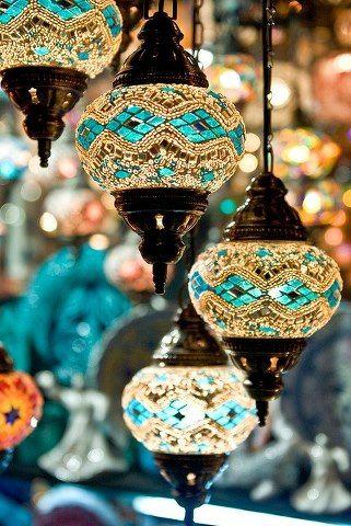 Moroccan style lighting. Pretty for a porch area.                                                                                                                                                     More
