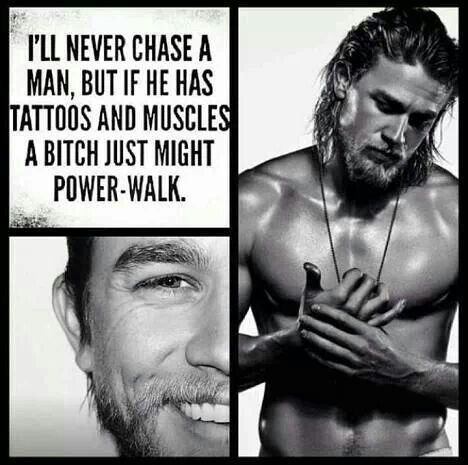 Sons of Anarchy-You know I'm anti-tattoo, but for this gorgeous man I will just have to make an exception!