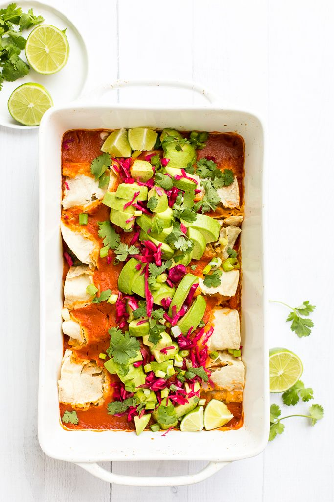 Best Vegan Enchiladas from Minimalist Baker's Everyday Cooking and A Giveaway!