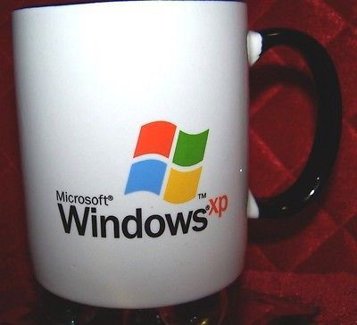 Microsoft Windows XP Computer Operating System Old School Coffee Cup