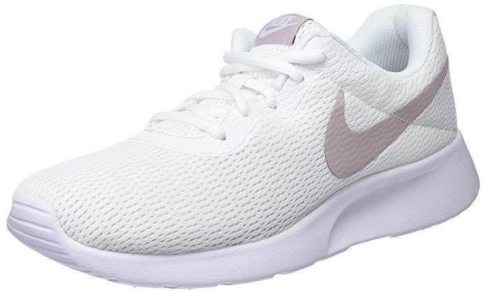 Preis Nike Tanjun Damen Sneaker Laufschuhe Weiss Mit Silber Streifen Nike Damen Laufschuhe Sneaker