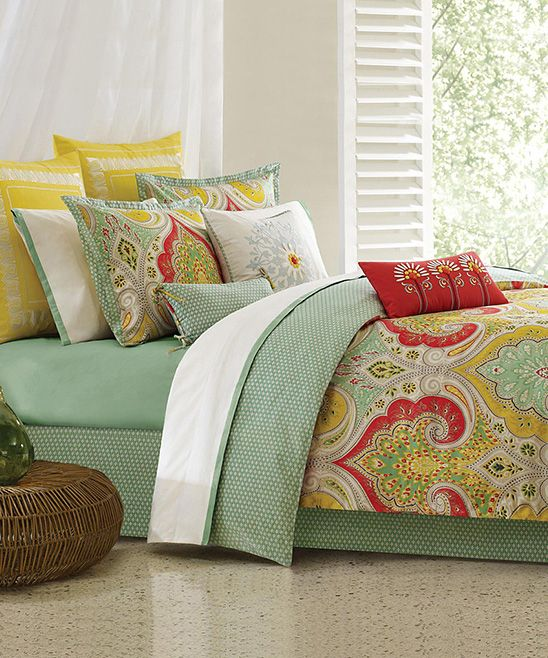 Take A Look At The Yellow India Comforter Set Beautiful