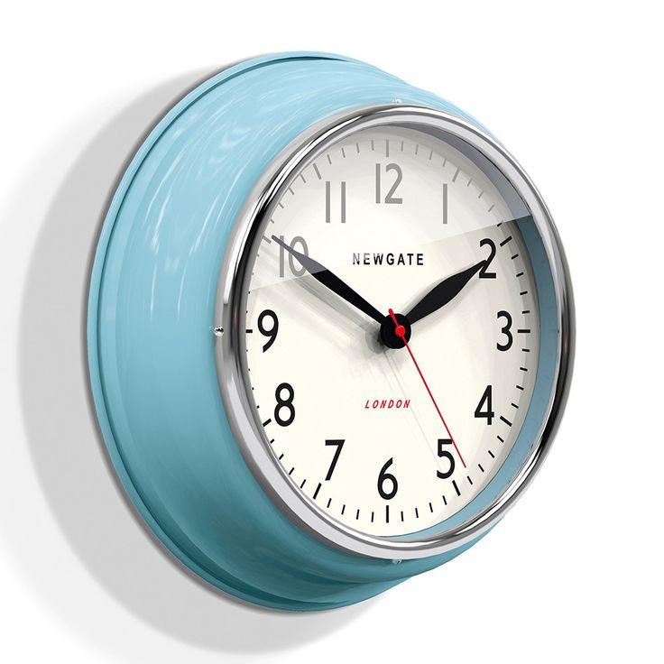 Buy Newgate Clocks The Cookhouse Wall Clock - Kettle Blue | Amara