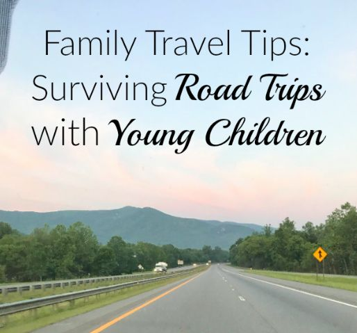 Tips for taking road trips with young kids!