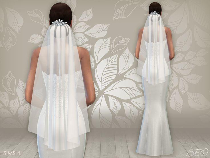 Lana CC Finds Wedding Dress 02 Amp Veil By BEO TS4