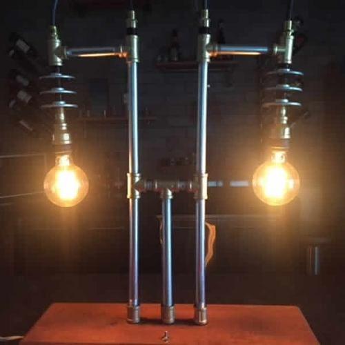 Lampara Escritorio Vintage Industrial Tipo Pipeman Bailarina - $ 1,380.00 en Mercado Libre