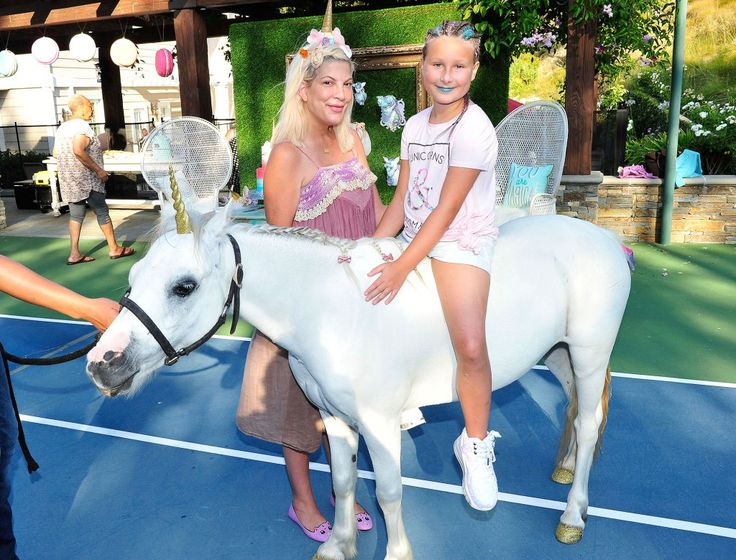 Tori Spelling and Dean McDermott Throw Daughter Stella a Lavish Unicorn-Themed 9th Birthday Party amid Financial Woes