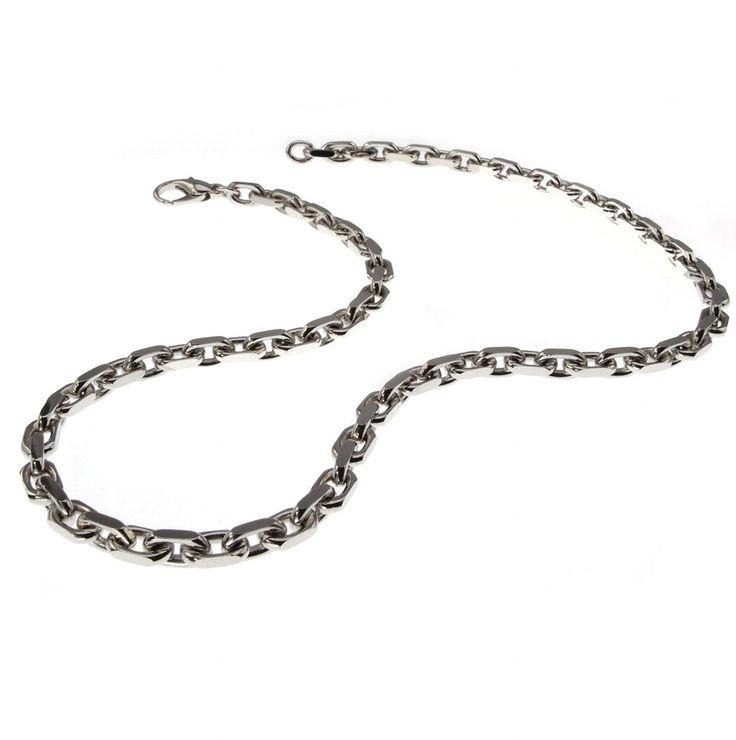 Echt Massiv Neu 50cm Ankerkette 585 Weißgold 2,5mm Halskette Edel kaufen bei Hood.de - Material Weißgold Farbe Silber