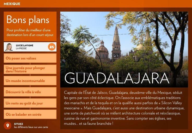Capitale de l'État de Jalisco, Guadalajara, deuxième ville du Mexique, séduit les gens par son côté éclectique. On l'associe aux emblématiques traditions des mariachis et de la tequila et on la qualifie aussi parfois de «Silicon Valley mexicaine». Mais Guadalajara, c'est aussi une destination