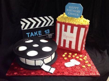 Adorable movie theme cake