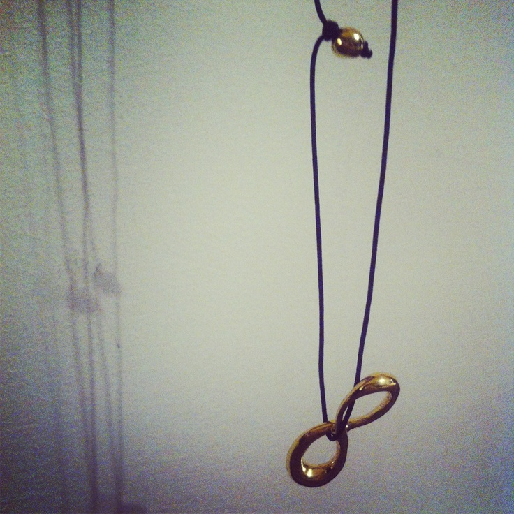 'Infinity' pendant , gold plated!! By B-Tal Jewellery
