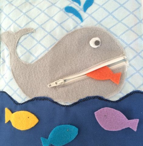 Whale quiet book Page