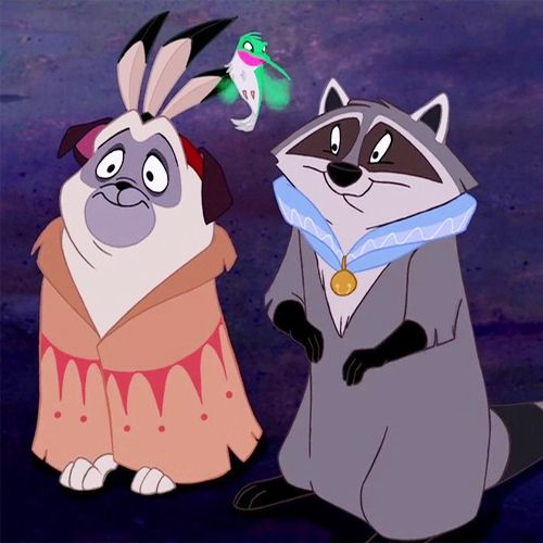 "Meeko, Flit, and Percy from ""Pocahontas"" - Awww! They are the favorite part of Pocahontas ;)"
