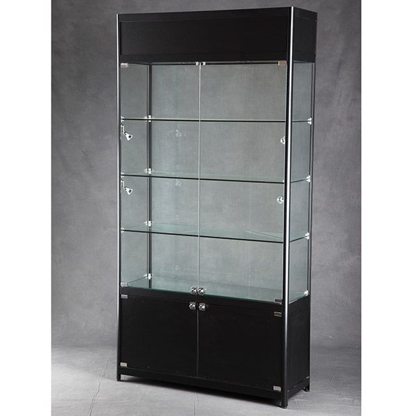 New Lighted Glass Display Cabinet