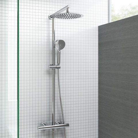 250mm Thermostatic Round Mixer Shower & Handheld [PT-SP5103] - £139.99 : Platinum Taps & Bathrooms
