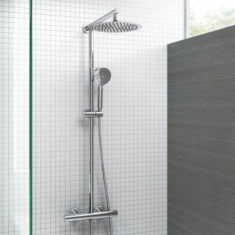 250mm Thermostatic Round Mixer Shower & Handheld [PT-SP5103] - £139.99 : Platinum Taps & Bathrooms