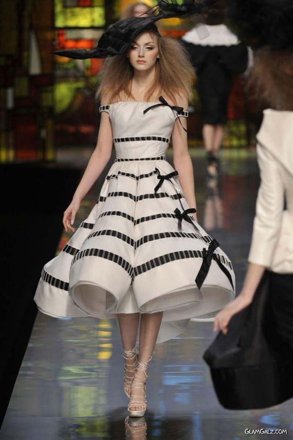 Christian Dior Black and White Stripes