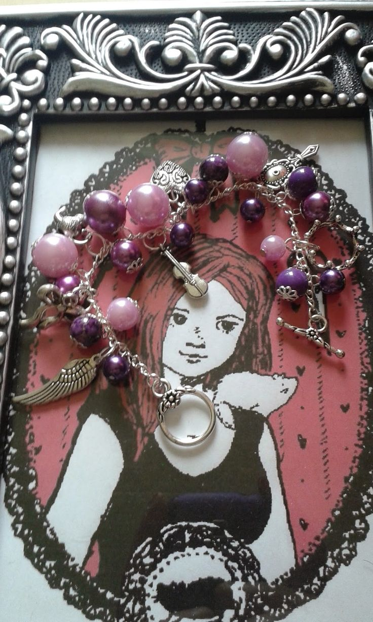 Purple beads and silver charms bracelet  More pictures - http://my-p-project.blogspot.hu/2014/08/praktika-ezust-es-lila-gyongyos-karkoto.html Visit my blog! - my-p-project.blogspot.hu Like me on Facebook! - www.facebook.com/blitheproject