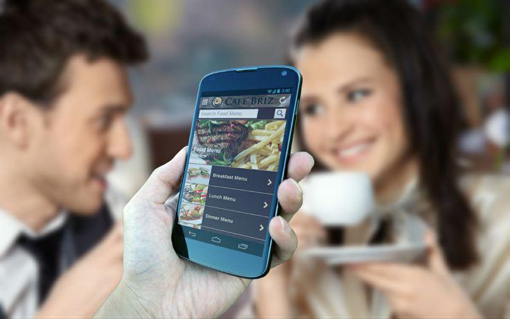 Cafe Briz Mobile App - Menu Page.