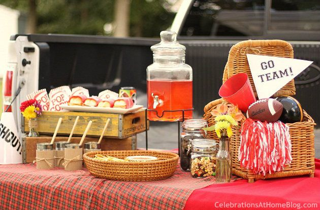 Whether you're celebrating at the stadium or your own driveway, here are some fun ideas to for next tailgating party. #tailgate #party