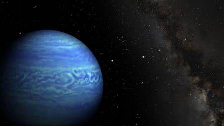 Découverte en 2014 par Kevin Luhman et son équipe, Wise 0855 est la naine brune la plus froide connue. Des indices suggéraient déjà la présence de nuages d'eau. À présent, les chercheurs qui ont étudié son spectre en sont convaincus. © Robert Hurt, JPL, Janella Williams, université de Pennsylvanie
