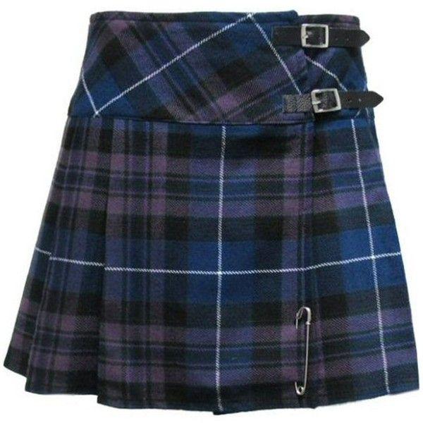 "Tartanista Honour Of Scotland Plaid 16.5"" Scottish Mini Kilt Skirt... ($29) ❤ liked on Polyvore featuring skirts, mini skirts, bottoms, blue, plaid, mini skirt, wrap skirt, flared skirt, plaid pleated skirts and wrap mini skirt"