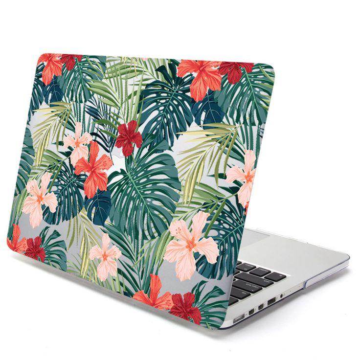 Add Color To Your Life With The Dynamic Use Of And Patterns GMYLE Leaf Pattern Hard Case Print Glossy Hibiscus Gives A Fashionable Touch