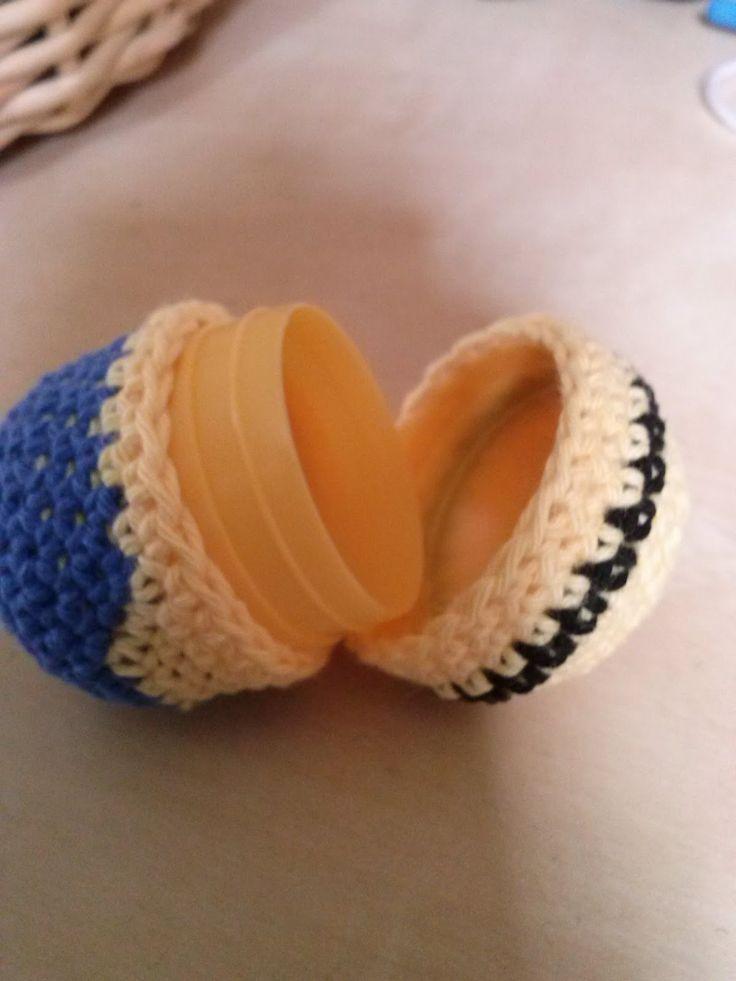 den lille urteheks: Hæklet kinderæg Minion, fra grusomme mig 2
