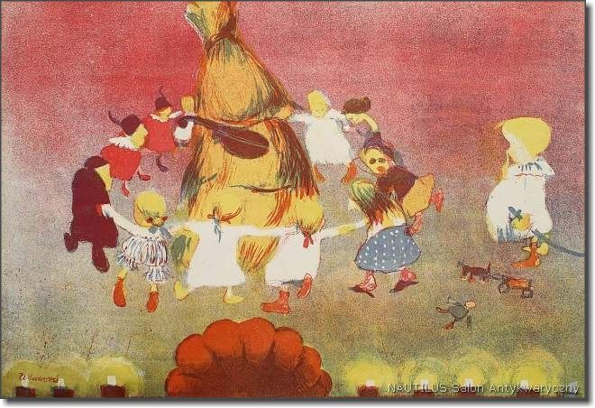 Taniec Chochoła ze sztuki S. Wyspiańskiego Wesele, 1904