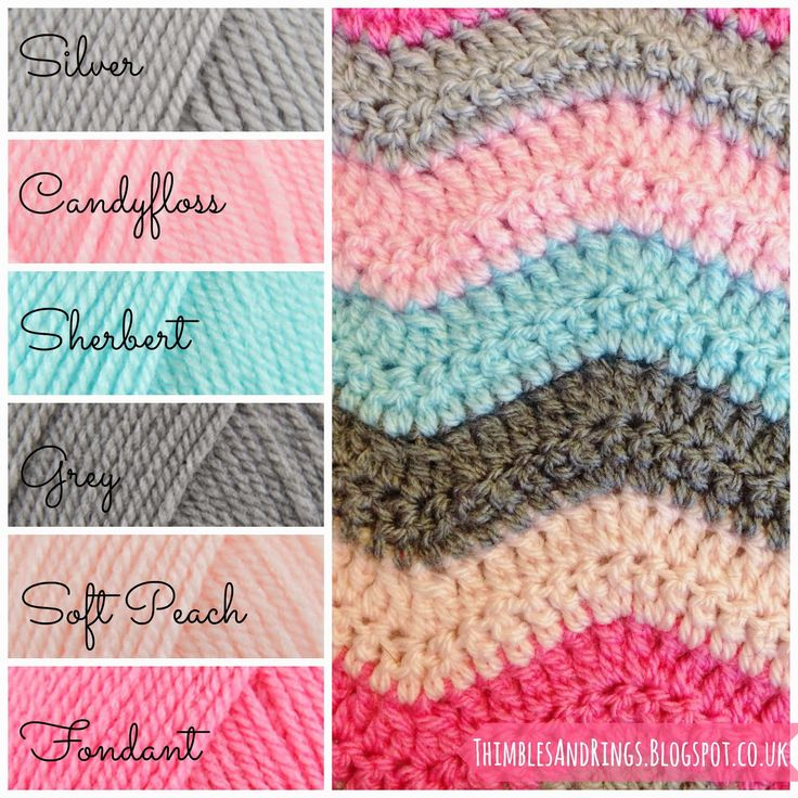 Thimbles and Rings: Olivia's Ripple Blanket pattern is from attic24 ripple