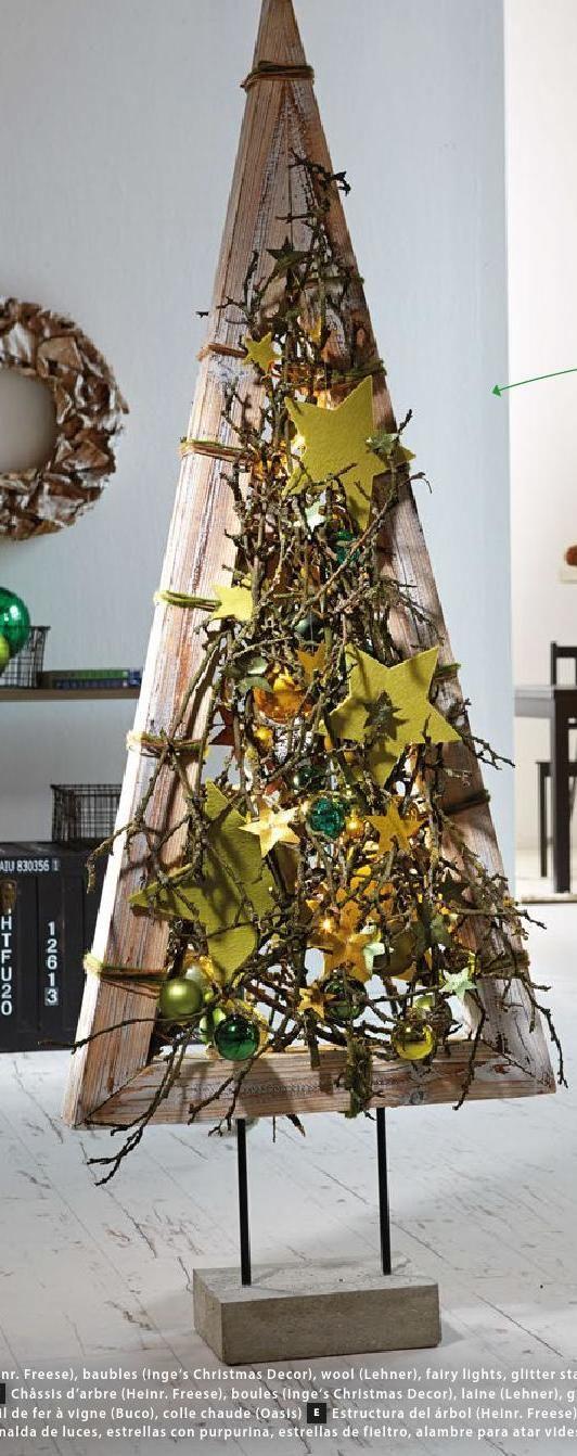 alternatieve kerstboom in hout