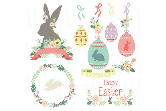 Check out Happy Easter Day Collection by YenzArtHaut on Creative Market