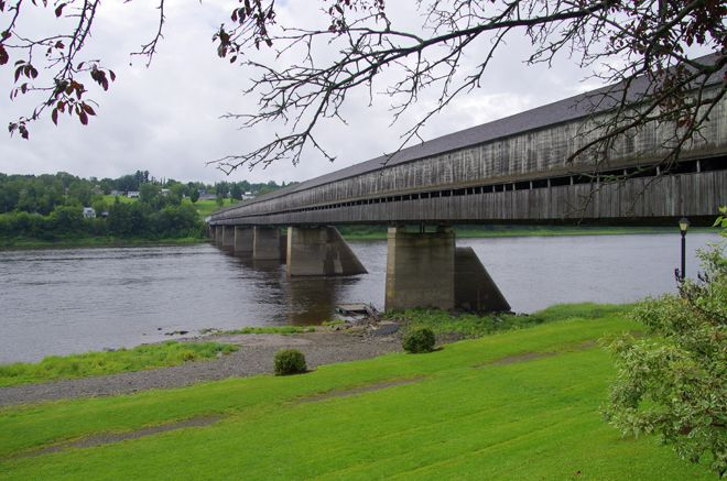 The worlds longest covered bridge in Hartland, New Brunswick