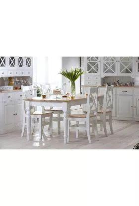 Biały stół drewniany Nicea 05 w stylu prowansalskim