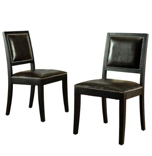 Abbyson Living Couture Brown Bicast Leather Dining Chair Set Of 2 By
