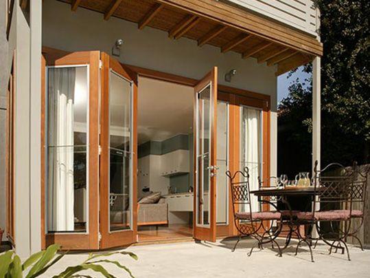 timber bi folding doors - Google Search