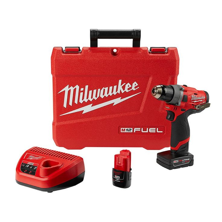 Milwaukee M12 Fuel 12-Volt Lithium-Ion Cordless Brushless 1/2 in. Drill Driver Kit