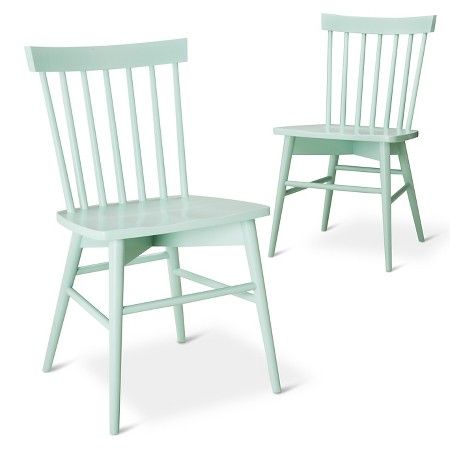 Mint. Green. Chairs. With an oak table. Painted or unpainted??