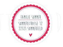 24 personalisierte Adressaufkleber Sticker Home