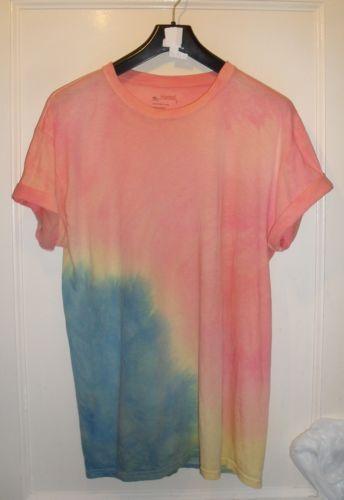 Tie-Dye-T-shirts-Grunge-VTG-90s-oversized-ombre-hipster-Indie-Retro-boyfriend